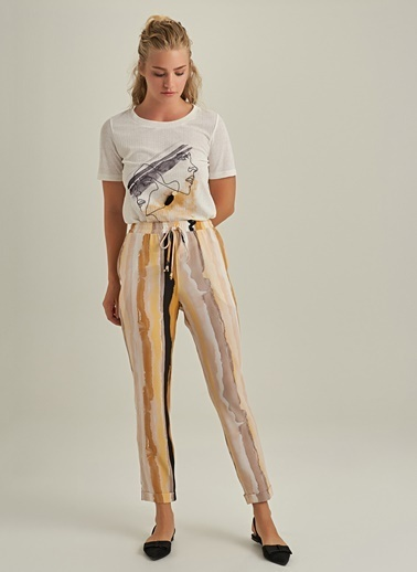 NGSTYLE Desenli Pantolon Sarı